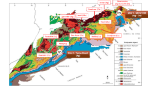 Copper and silver exploration project in Morocco